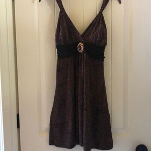 Animal print woman's dress